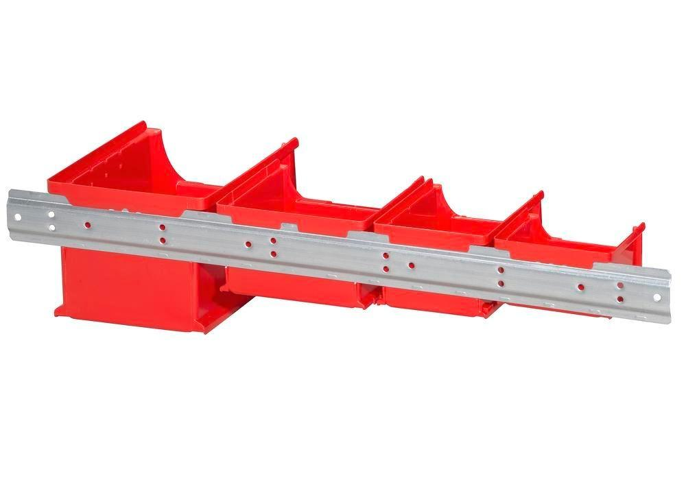 Metal wall mounting rails for open-fronted storage bins pro-line A1-3, Pack = 10 pc.