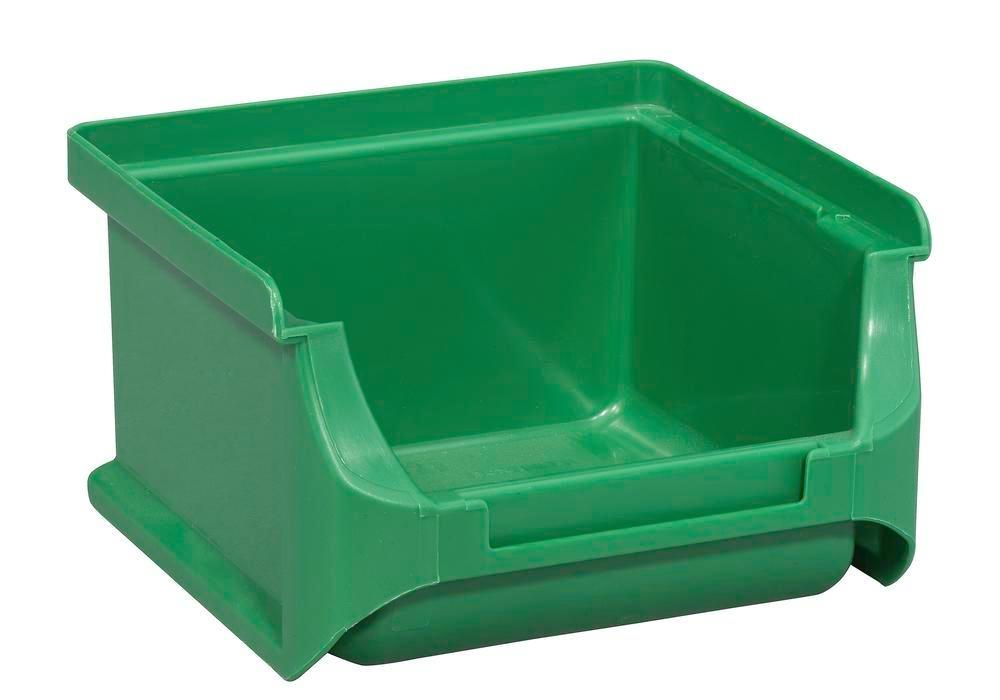 Open-fronted storage bins pro-line A1, PP, 100 x 100 x 60 mm, green, Pack = 30 pcs. - 1