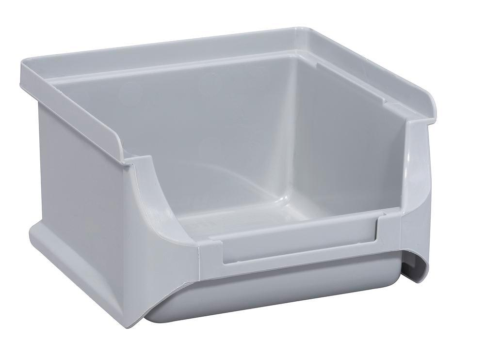 Open-fronted storage bins pro-line A1, PP, 100 x 100 x 60 mm, grey, Pack = 30 pcs. - 1