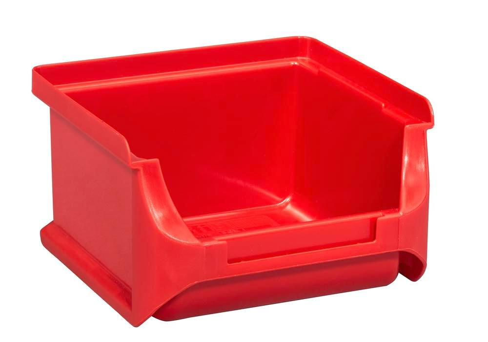 Open-fronted storage bins pro-line A1, PP, 100 x 100 x 60 mm, red, Pack = 30 pcs. - 1