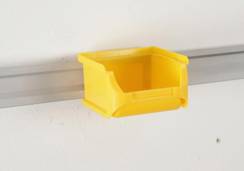 Open-fronted storage bins pro-line A1, PP, 100 x 100 x 60 mm, yellow, Pack = 30 pcs.