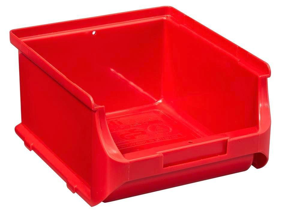 Open-fronted storage bins pro-line A2-B, PP, 135 x 160 x 82 mm, red, Pack = 20 pcs. - 1