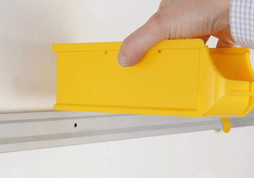 Open-fronted storage bins pro-line A2-L, PP, 100 x 215 x 75 mm, yellow, Pack = 20 pcs.