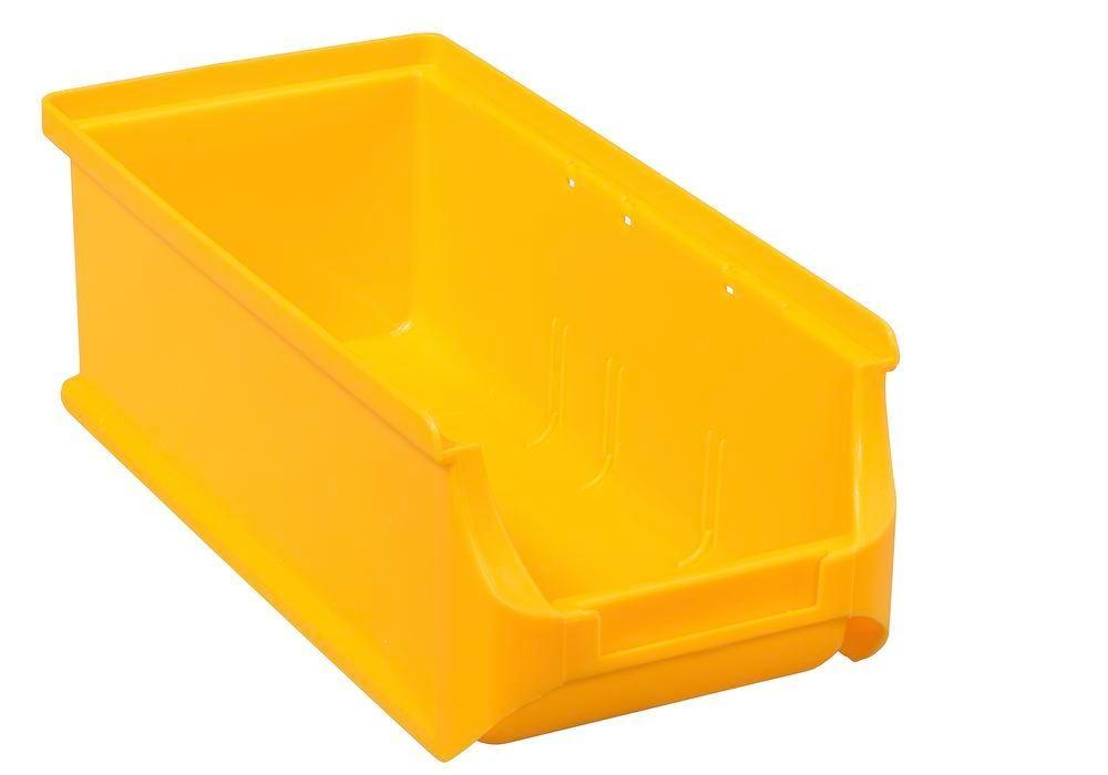 Open-fronted storage bins pro-line A2-L, PP, 100 x 215 x 75 mm, yellow, Pack = 20 pcs. - 1