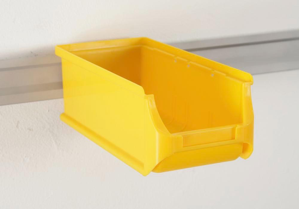 Open-fronted storage bins pro-line A2-L, PP, 100 x 215 x 75 mm, yellow, Pack = 20 pcs. - 2