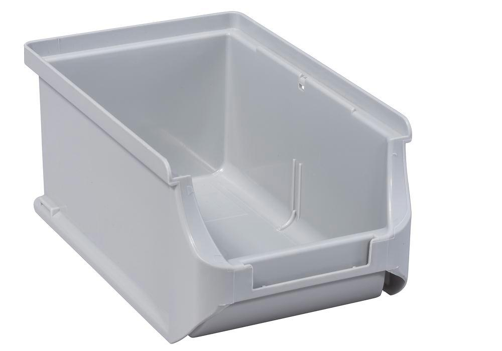 Open-fronted storage bins pro-line A2, PP, 100 x 160 x 75 mm, grey, Pack = 24 pcs. - 1