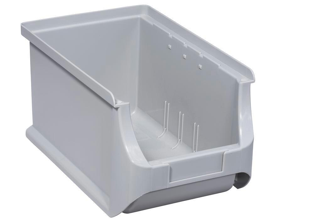 Open-fronted storage bins pro-line A3, PP, 150 x 235 x 125 mm, grey, Pack = 24 pcs. - 1