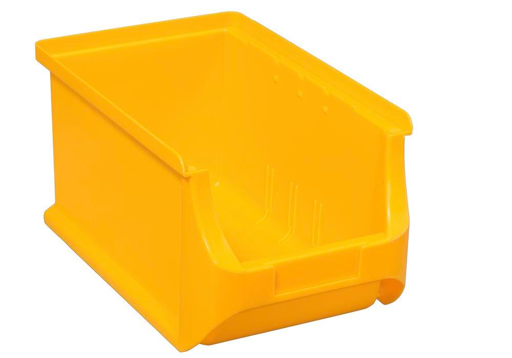 Open-fronted storage bins pro-line A3, PP, 150 x 235 x 125 mm, yellow, Pack = 24 pcs.