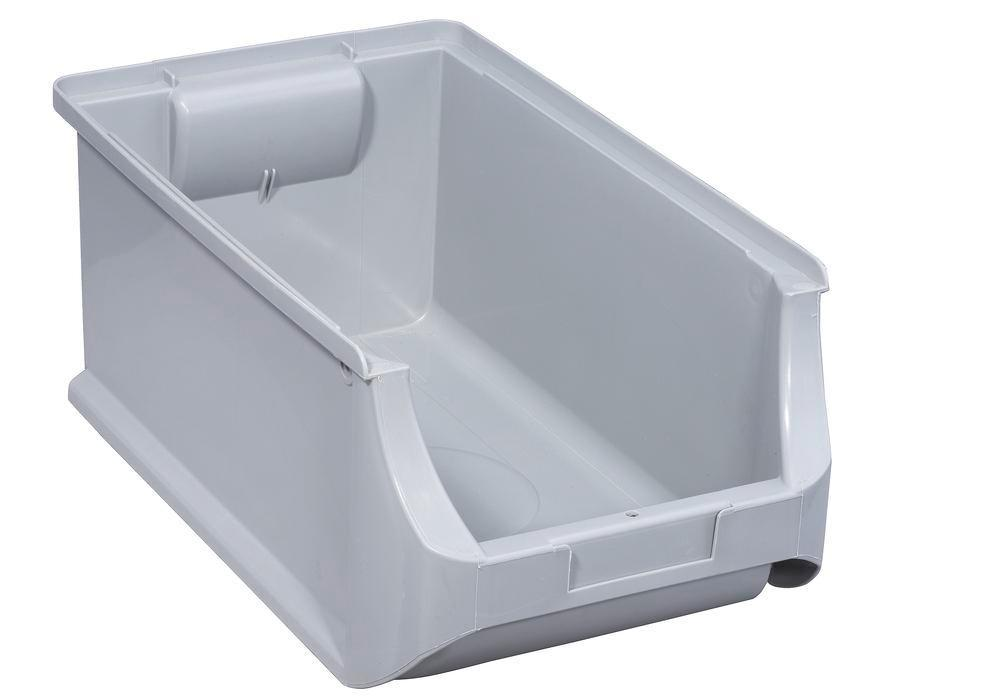 Open-fronted storage bins pro-line A4, PP, 205 x 355 x 150 mm, grey, Pack = 12 pcs. - 1