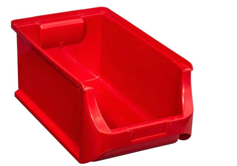 Open-fronted storage bins pro-line A4, PP, 205 x 355 x 150 mm, red, Pack = 12 pcs. - 1