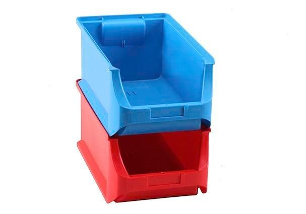 Open-fronted storage bins pro-line A4, PP, 205 x 355 x 150 mm, red, Pack = 12 pcs. - 2