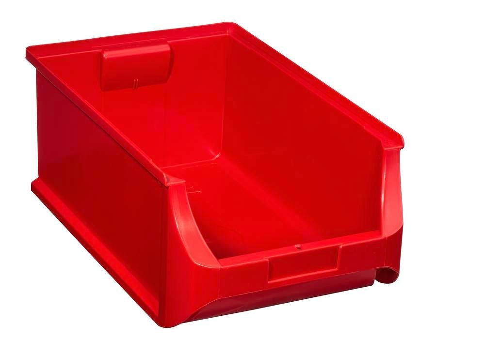 Open-fronted storage bins pro-line A5, PP, 310 x 500 x 200 mm, red, Pack = 6 pcs. - 1