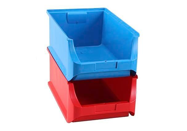 Open-fronted storage bins pro-line A5, PP, 310 x 500 x 200 mm, red, Pack = 6 pcs.