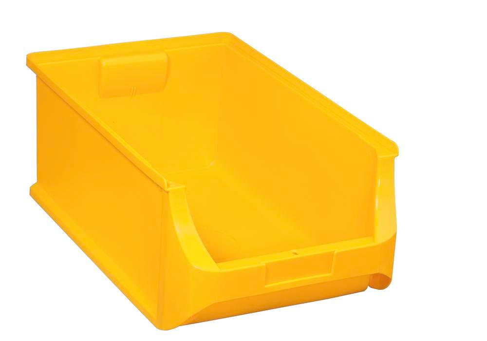 Open-fronted storage bins pro-line A5, PP, 310 x 500 x 200 mm, yellow, Pack = 6 pcs.