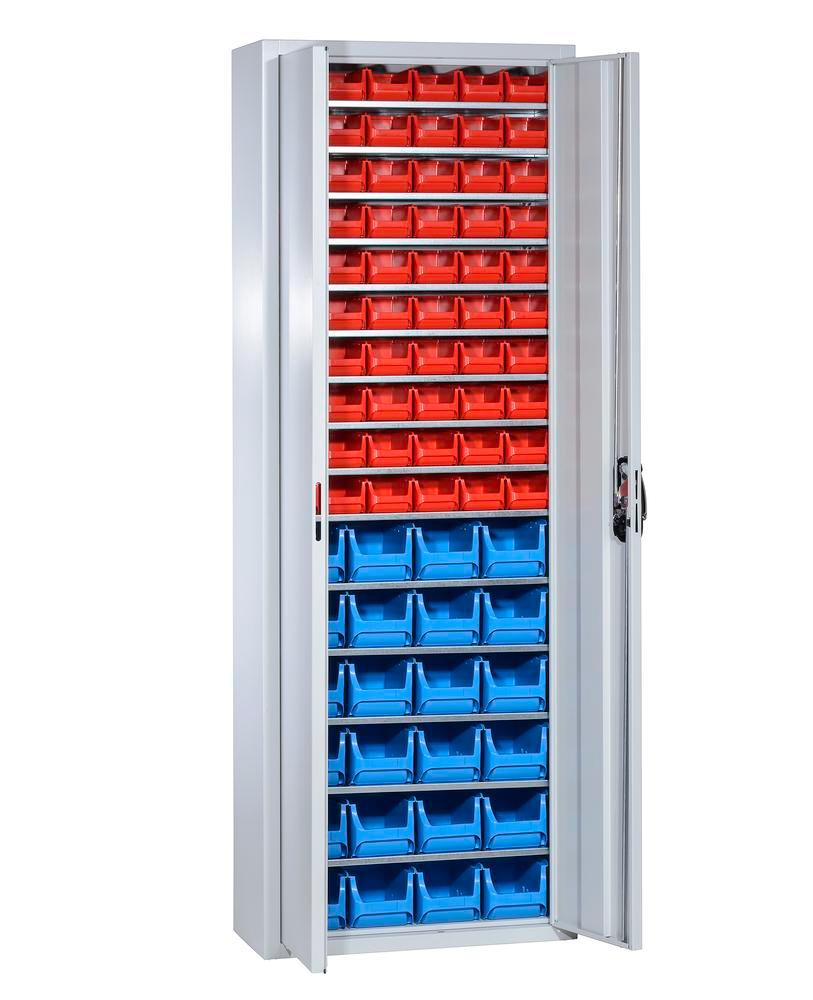 Storage cabinets with 84 open-fronted storage bins pro-line A, 700 x 300 x 1980 mm