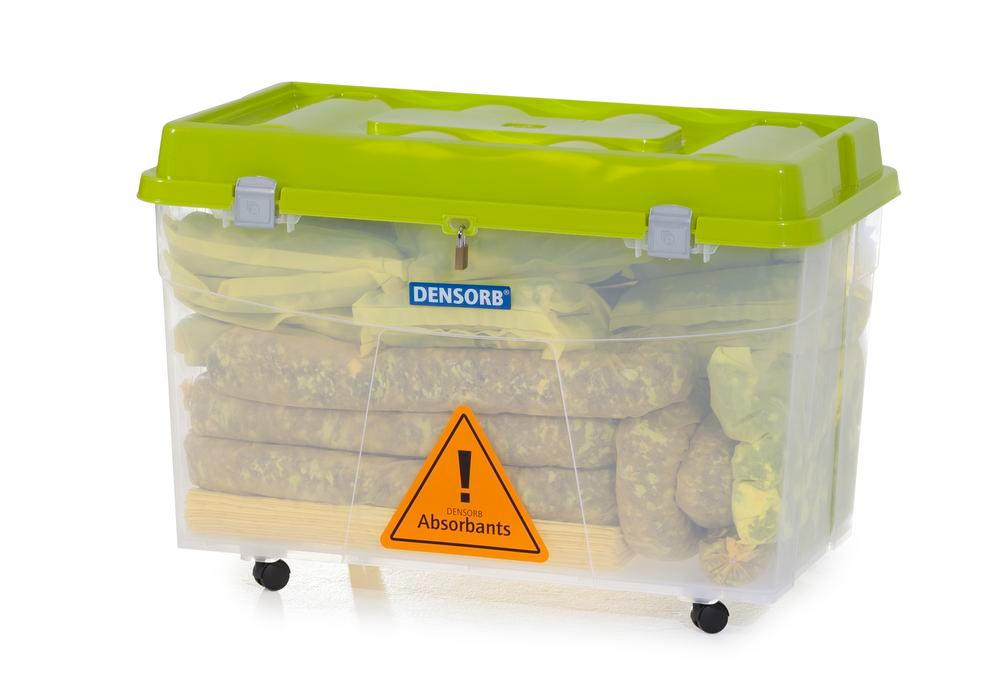 DENSORB Emergency Spill Kit in Transparent Box with castors, application SPECIAL - 2