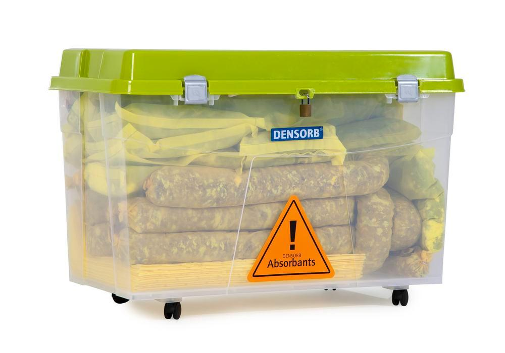 DENSORB Emergency Spill Kit in Transparent Box with castors, application SPECIAL - 4