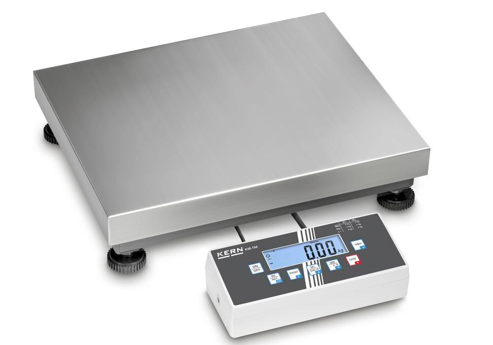 KERN two-range platform scale IOC, IP 65, verifiable, to 30 kg, weighing plate 400 x 300 mm