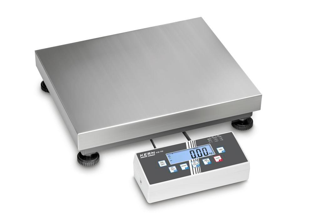 KERN two-range platform scale IOC, IP 65, verifiable, to 6 kg, weighing plate 300 x 300 mm