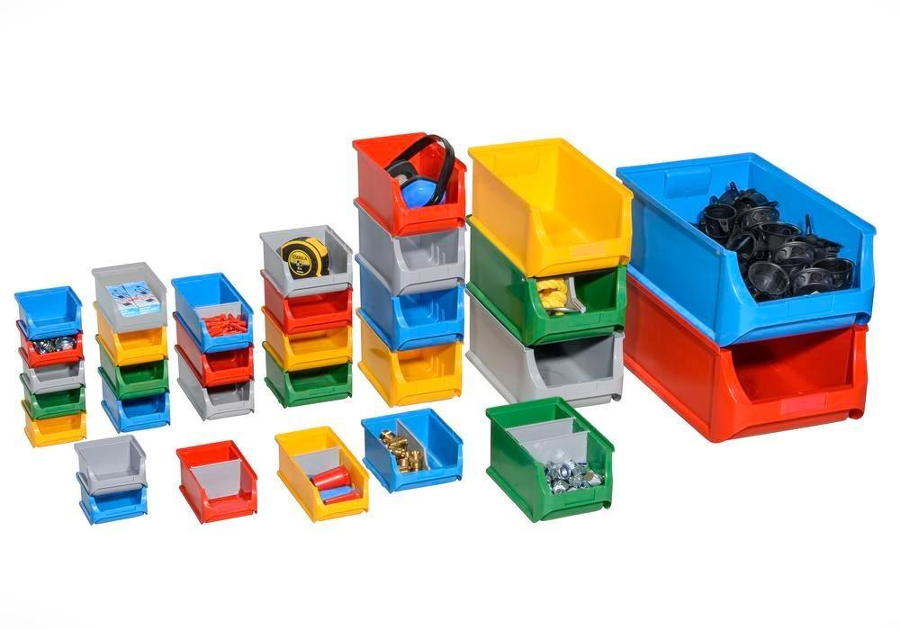 Open-fronted storage bins pro-line A5, PP, 310 x 500 x 200 mm, green, Pack = 6 pcs. - 2