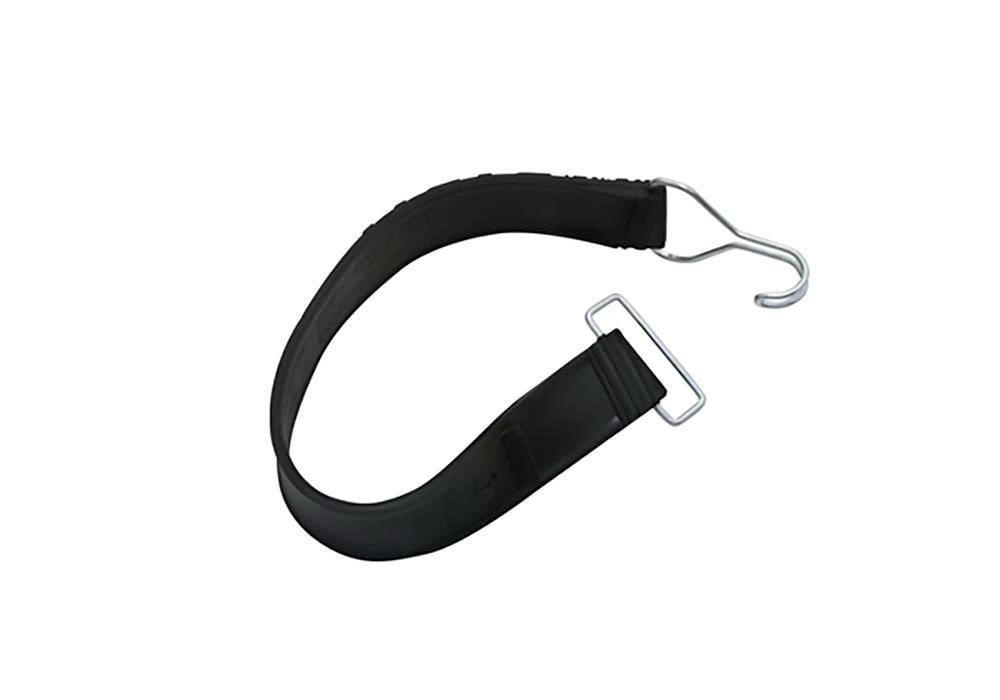 Rubber tension strap, 1 wire hook / 1 wire loop, 400 x 37 mm