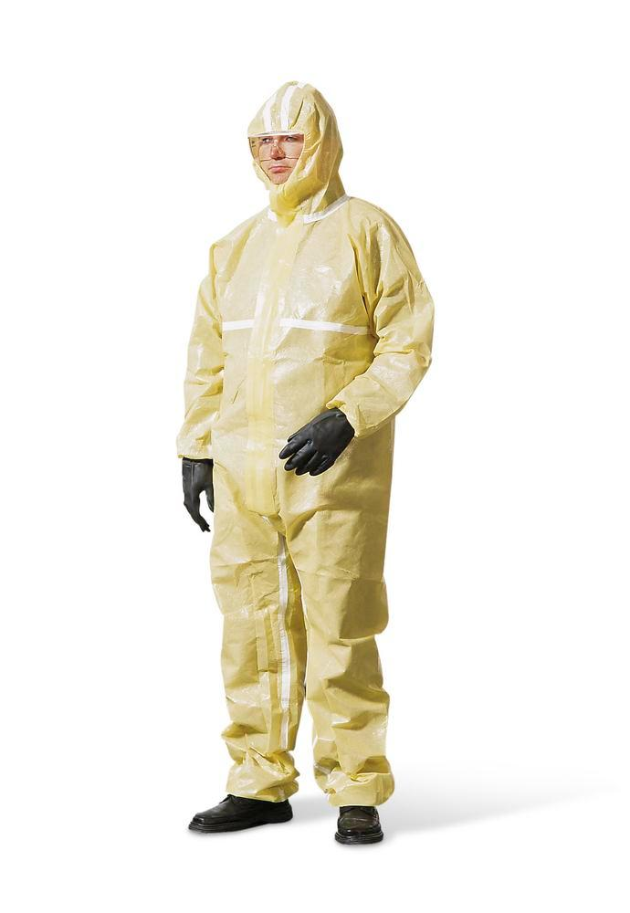 Chemical Protective overall Basic, CE/PPE category III, models 4, 5, 6, size XXL, yellow