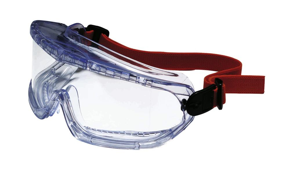 Full Vision Safety Goggles, V-Maxx, hard coated lenses with indirect ventilation system and elastic