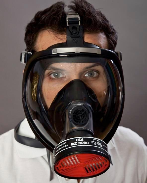 Fume protection full mask SEFRA, without filter, to DIN EN 136 class 3