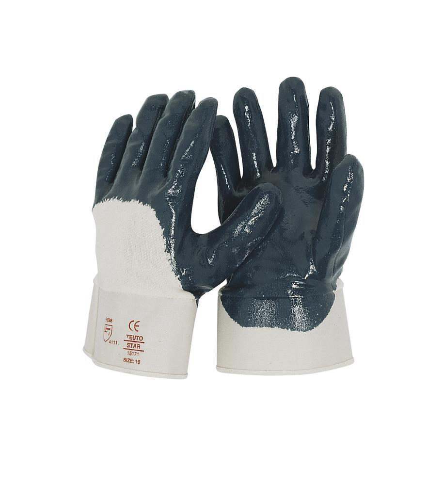 Nitrile Gloves, Category II, Size 10.5, blue, 12 pairs per pack