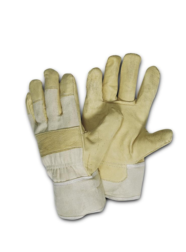 Pigskin leather gloves, lined, size 10.5, Category I, 12 pairs per pack