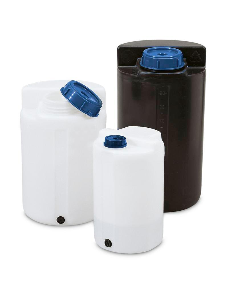 Storage and pouring containers 100 ltr, transparent