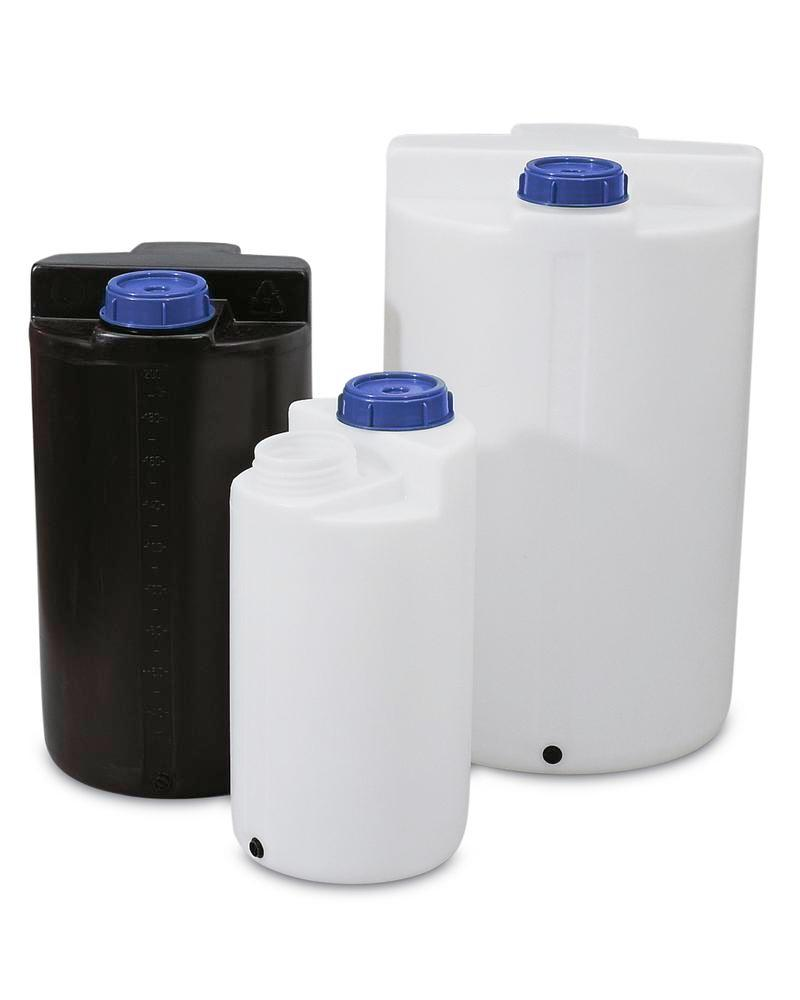Storage and pouring containers 200 ltr, transparent
