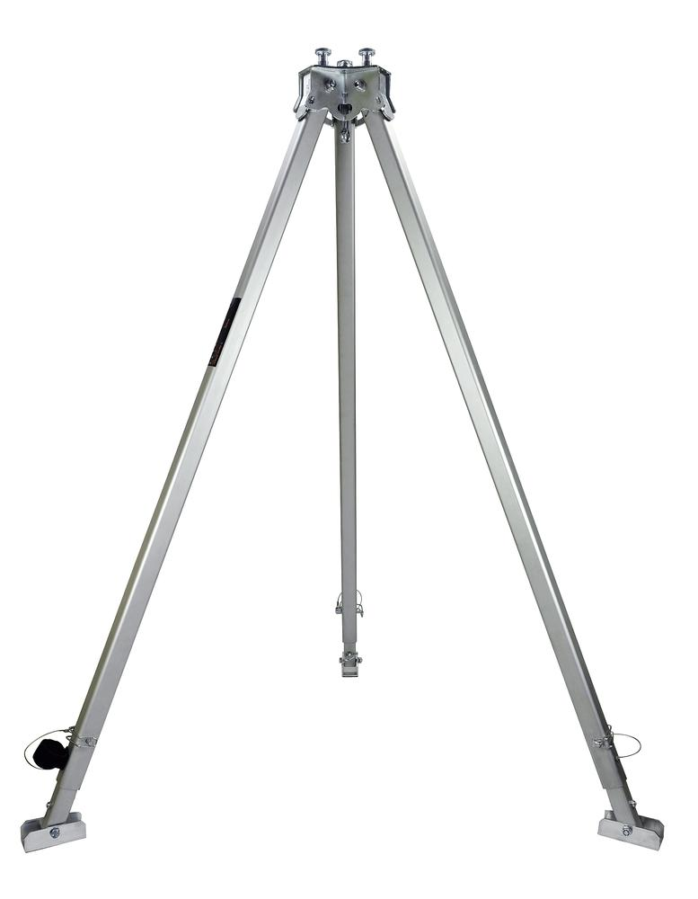 Tripod, aluminium with 3 anchor points, 300 kg load capacity