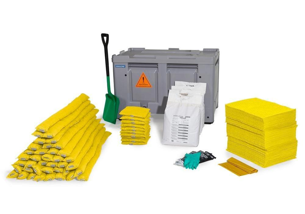 DENSORB Emergency Spill Kit in Transport Box, stationary, application SPECIAL - 2