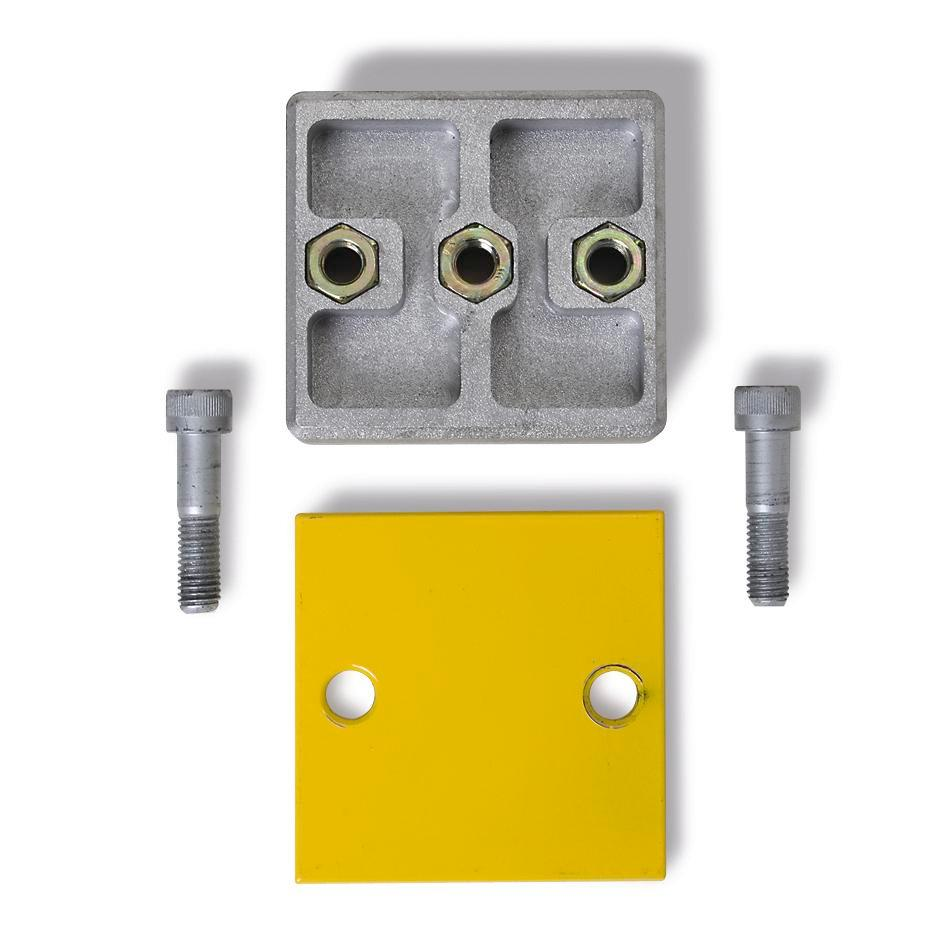 Extension set for Safe impact protection board, yellow