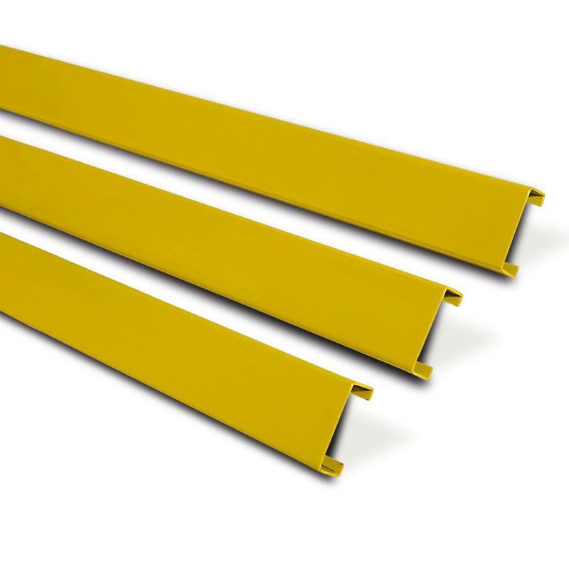 Impact protection board Safe, W 1200 mm, model 12-ZK, hot-dip galvanised and plastic-coated, yellow