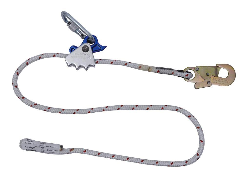 Lanyard ERGOGRIP, 1.5 m, suitable for 12 mm kernmantle rope
