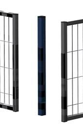 Partition wall system Easyline corner top post