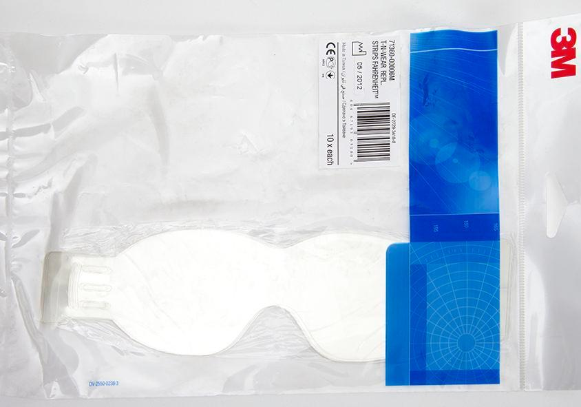 Polyester protective strip for goggles, 10 pieces - 1