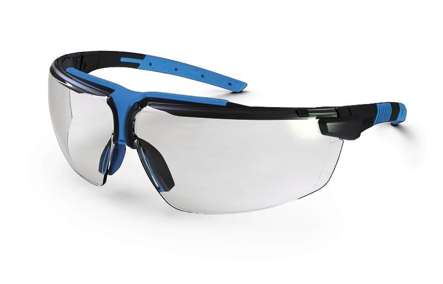 Safety spectacle uvex i-3 9190, anthrazit/blue with clear polycarbonat-lense