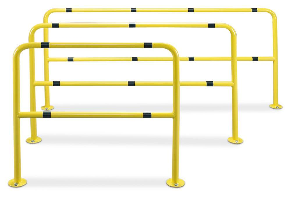 U-shaped protection barrier, SB L3, painted, yellow