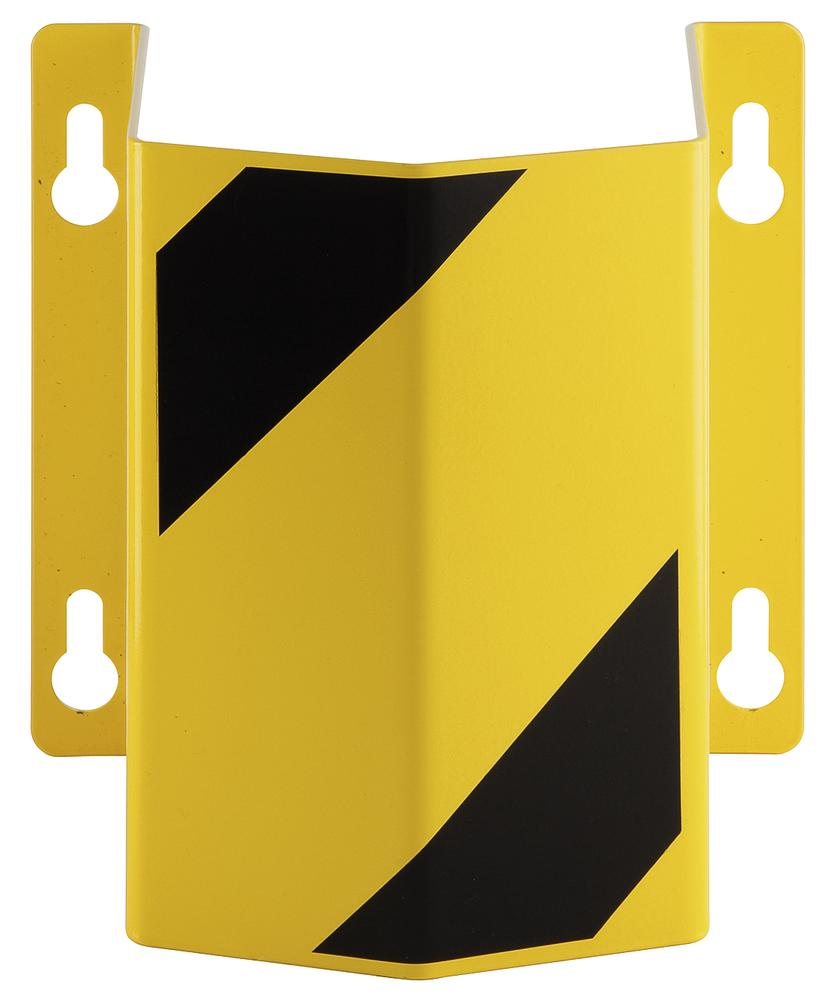 Wall Mounted Cable/Hose Protector - Indoor Use - 300 x 292 x 230mm - Powder Coated - Yellow/Black