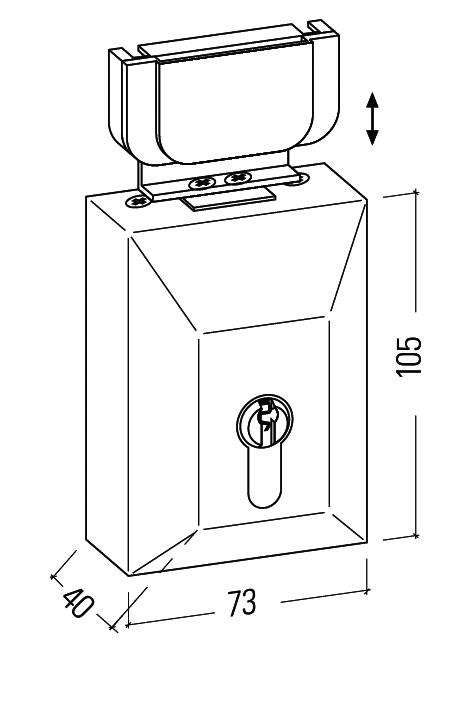 Box lock without cylinder