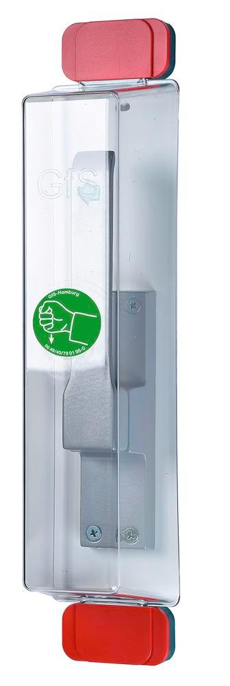 Emergency exit door cover Model E, reusable, incl. pictogram and mounting kit