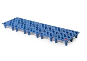Grid in polyethylene (PE) for PE spill tray for small containers pro-line, 26 litres, 1300x400x90-w280px