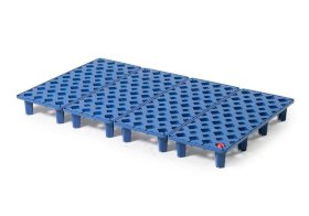 Grid in polyethylene (PE) for PE spill tray for small containers pro-line, 30 litres, 1000x600x90-w280px