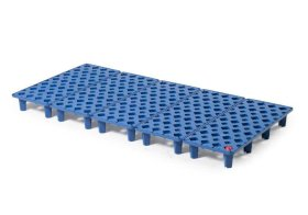 Grid in polyethylene (PE) for PE spill tray for small containers pro-line, 40 litres, 1300x600x90-w280px