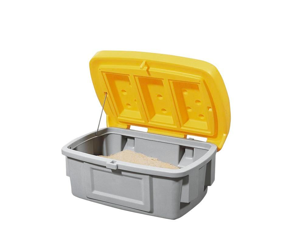 Grit Bin Model SB 100, Yellow Lid