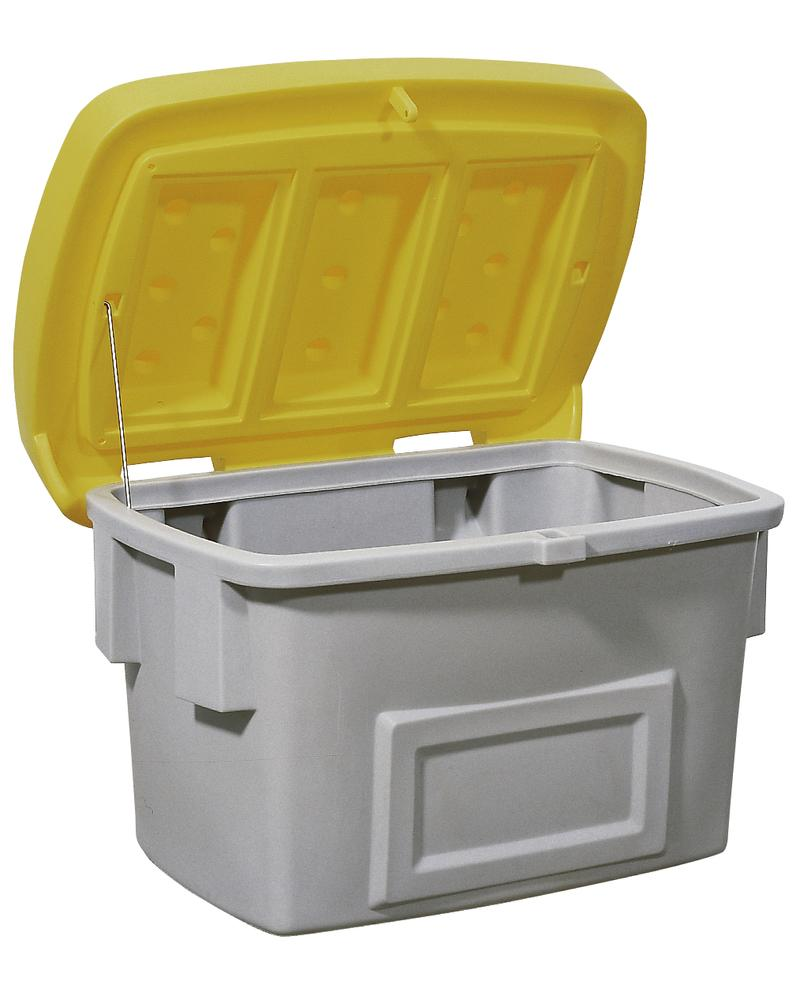 Grit Bin Model SB 200, Yellow Lid