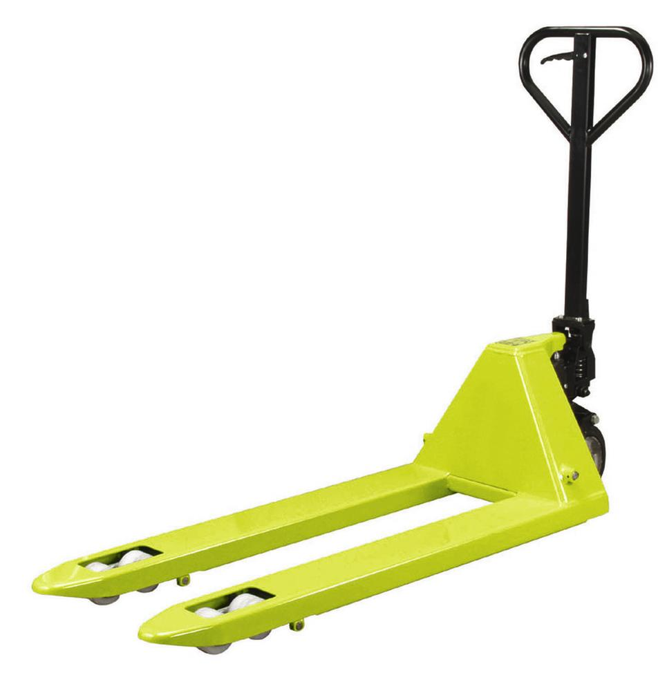 Hand operated pallet truck, professional model PR 2, with nylon wheels